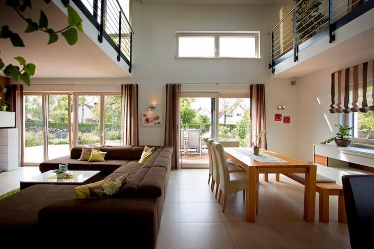 Holz Alu Fenster im Wohnbeireich